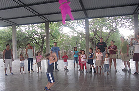 Picture of children playing with a pinata