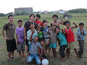 Picture of group in Cambodia