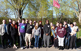 Picture of students at Augsburg House
