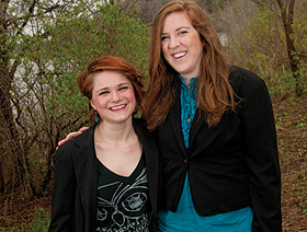 Picture of Kathy DeKrey and Katie Edelen