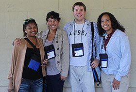 Photo of four McNair Scholars